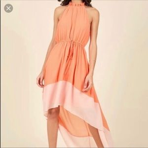 Modcloth Liza Luxe High-Low Dress